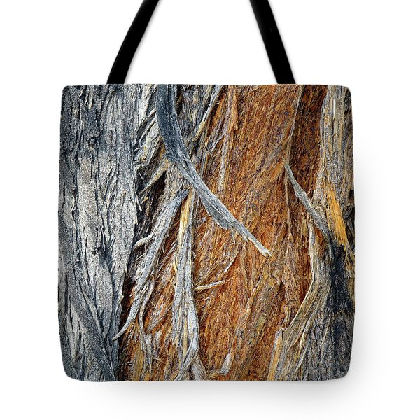 Tote Bag featuring the photograph Bark Of Palm by Lynda Lehmann