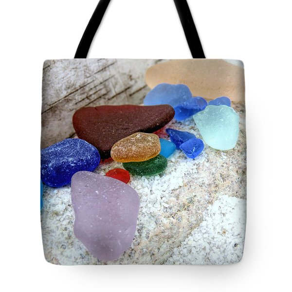Bark Stone And Glass Tote Bag