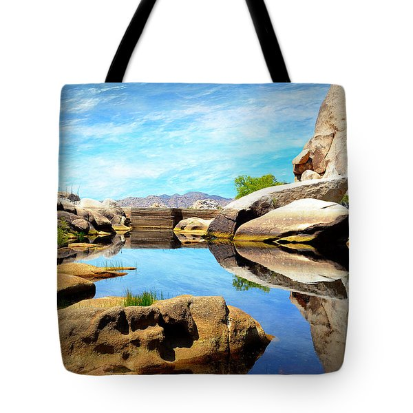 Tote Bag featuring the photograph Barker Dam - Joshua Tree National Park by Glenn McCarthy Art and Photography
