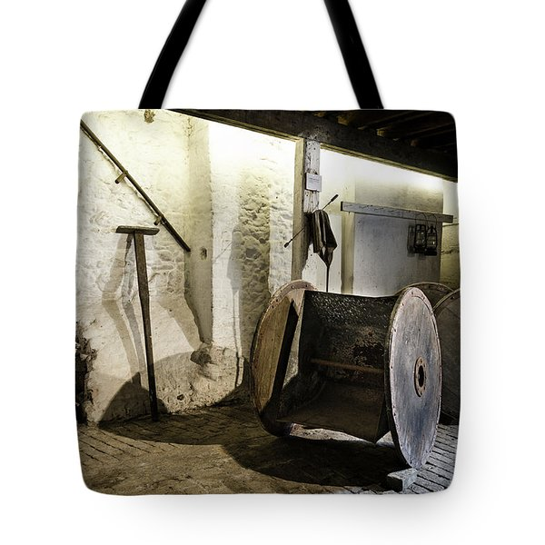 Tote Bag featuring the photograph Barley Warehouse At Lockes Distillery by RicardMN Photography