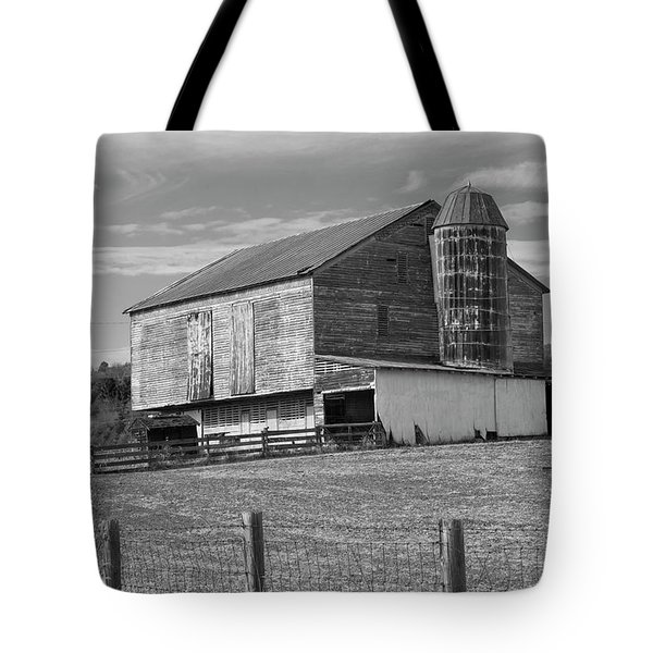 Tote Bag featuring the photograph Barn 1 by Mike McGlothlen