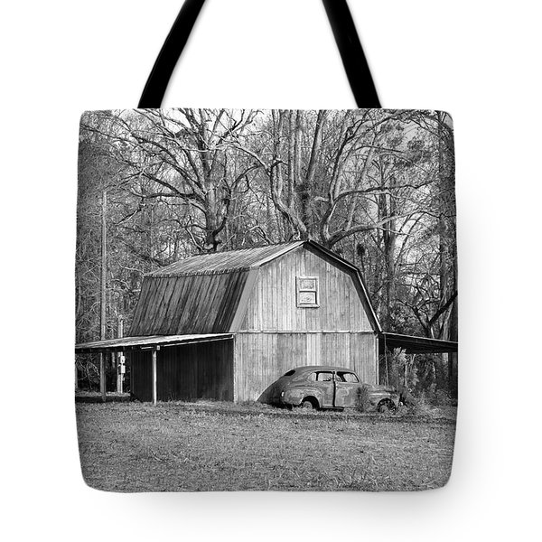 Tote Bag featuring the photograph Barn 2 by Mike McGlothlen