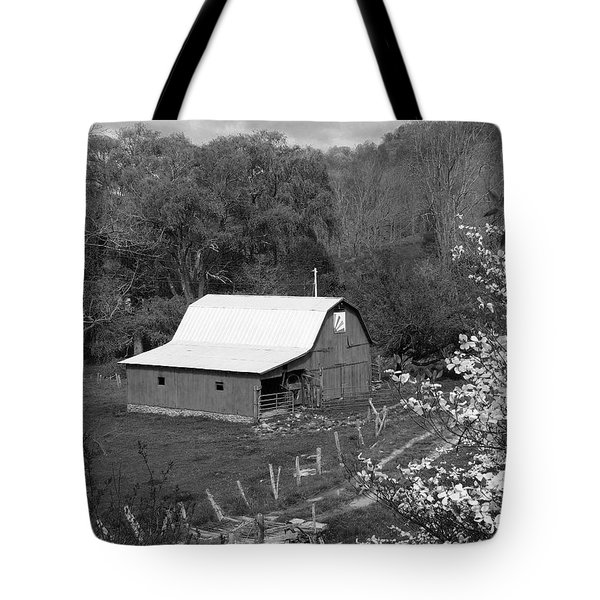 Tote Bag featuring the photograph Barn 3 by Mike McGlothlen