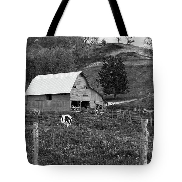 Tote Bag featuring the photograph Barn 4 by Mike McGlothlen