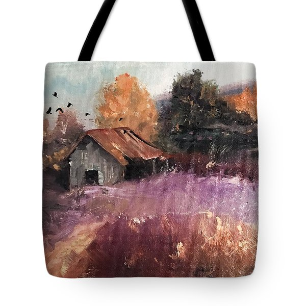 Barn And Birds  Tote Bag by Michele Carter