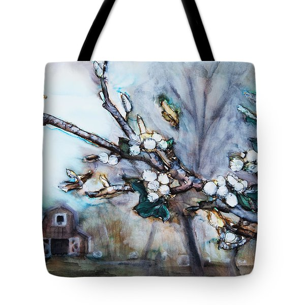 Barn And Blossoms Tote Bag by Tara Thelen