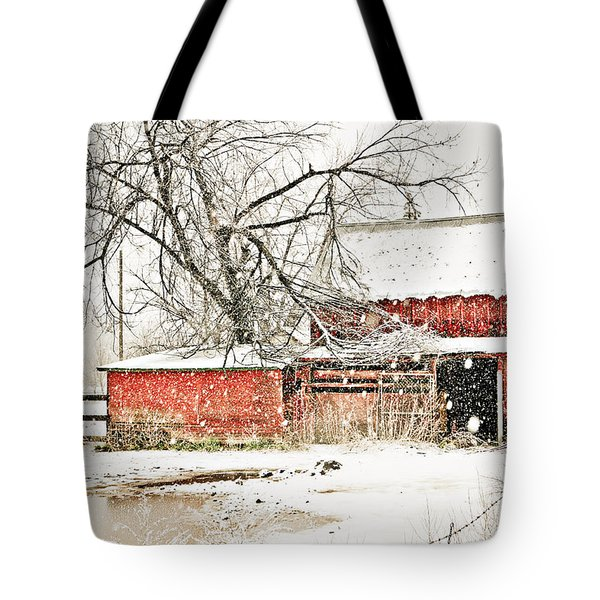 Barn And Pond Tote Bag by Marilyn Hunt