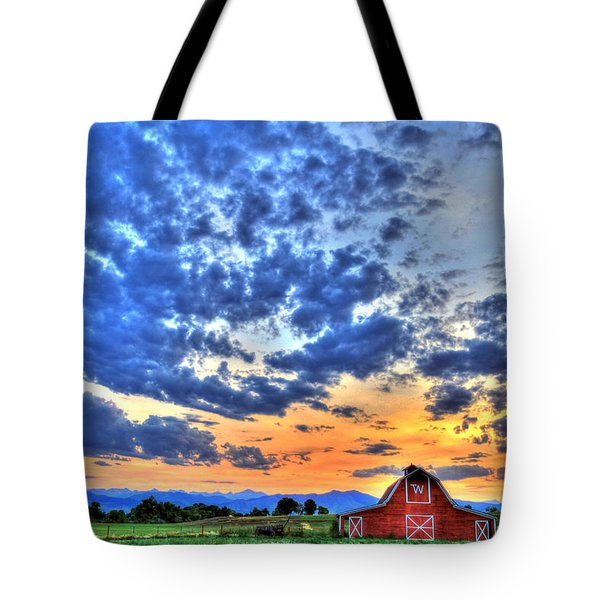 Barn And Sky Tote Bag