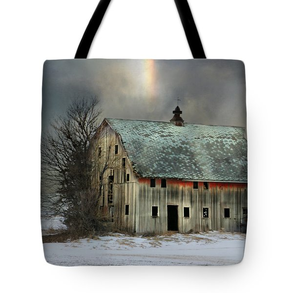 Barn And Sundog Tote Bag by Kathy M Krause