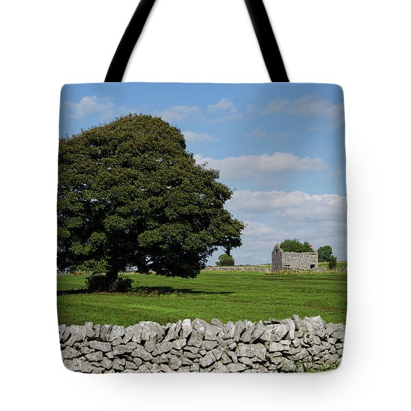 Barn And Tree Tote Bag by Steev Stamford