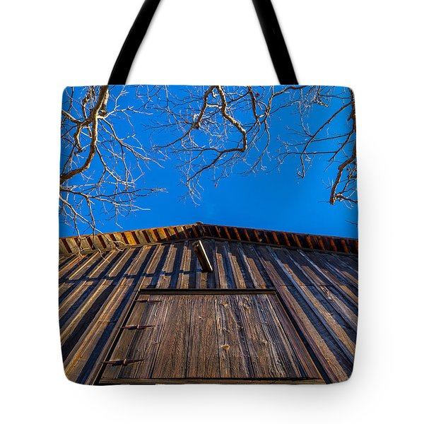 Barn And Trees Tote Bag