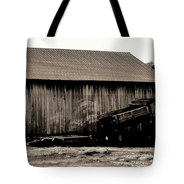 Barn And Truck Tote Bag