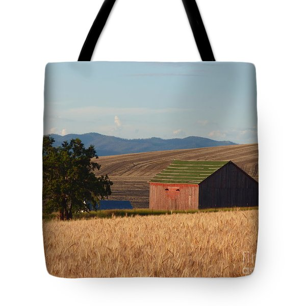 Barn And Wheat Tote Bag