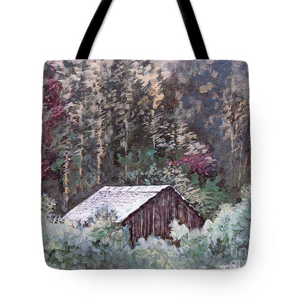 Barn At Cades Cove Tote Bag by Todd A Blanchard