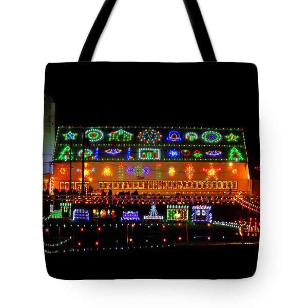 Barn At Koziars Christmas Village Tote Bag