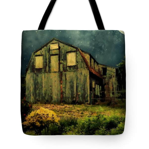 Barn By The Beach Tote Bag by RC deWinter