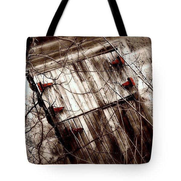 Barn Door Tote Bag by Julie Hamilton