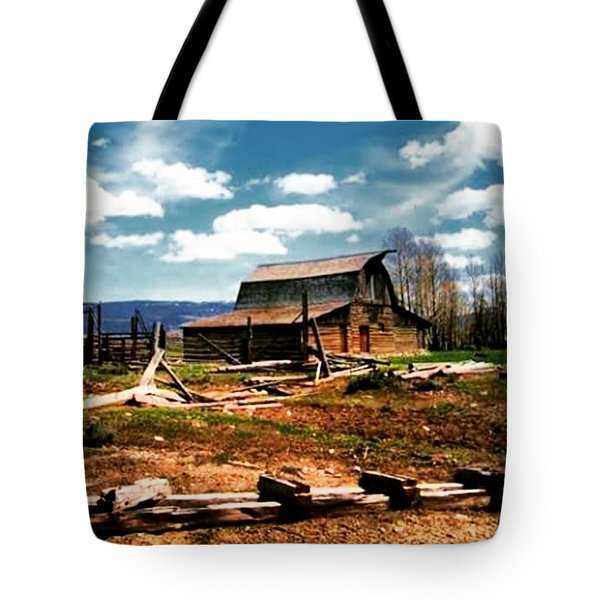 #barn #farm #homestead #history Tote Bag