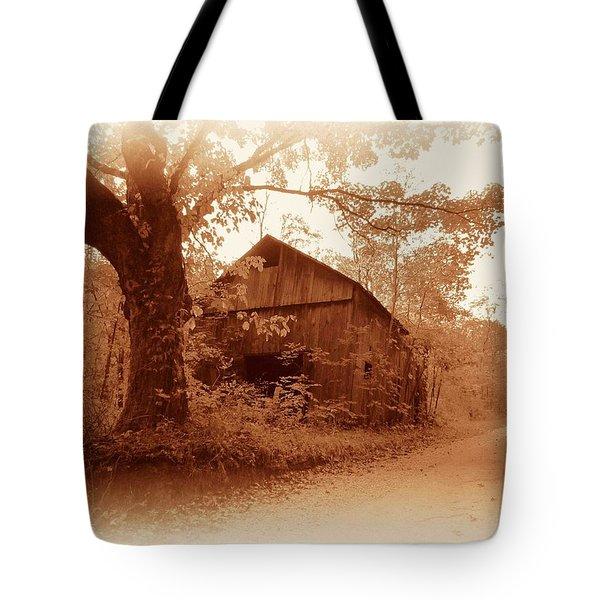 Barn Hocking Co Ohio Sepia Tote Bag