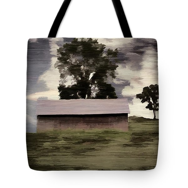 Barn II A Digital Painting Tote Bag