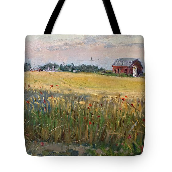 Barn In A Field Of Grain Tote Bag