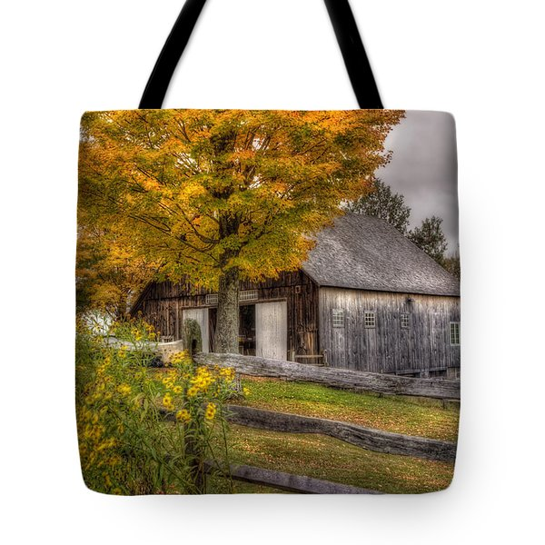 Barn In Autumn Tote Bag