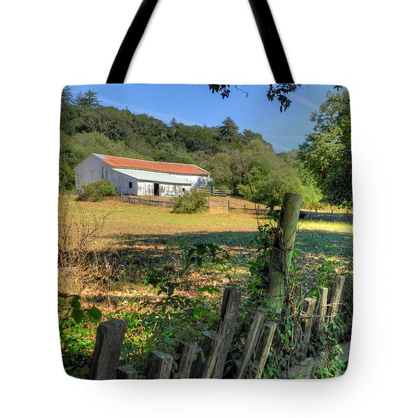 Barn In Big Sur Tote Bag