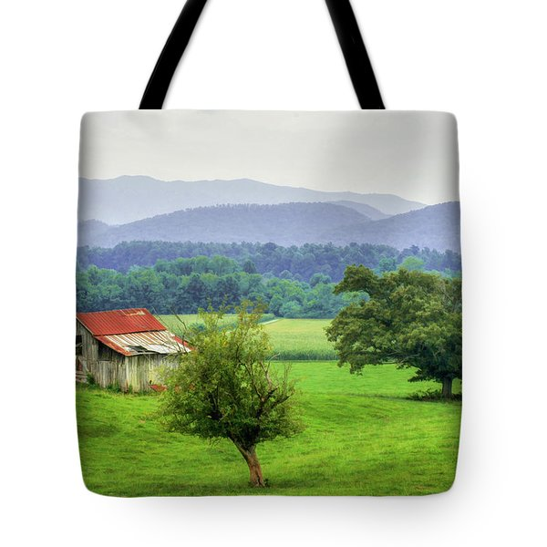 Barn In Smokies 2 Tote Bag