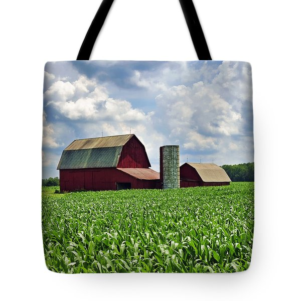 Barn In The Corn Tote Bag