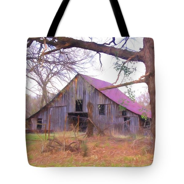 Barn In The Valley Tote Bag