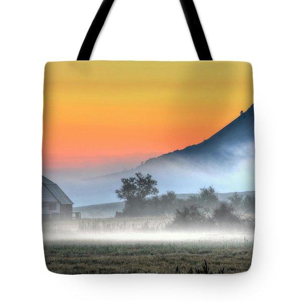 Barn Of Brigadoon Tote Bag