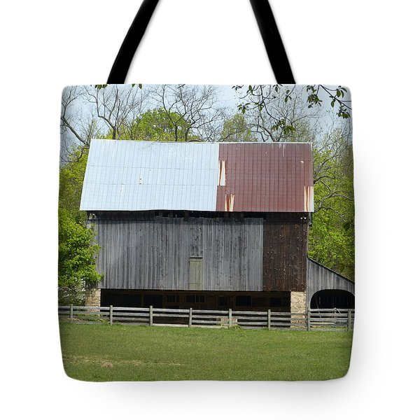 Tote Bag featuring the photograph Barn Of Fair Hill by Donald C Morgan