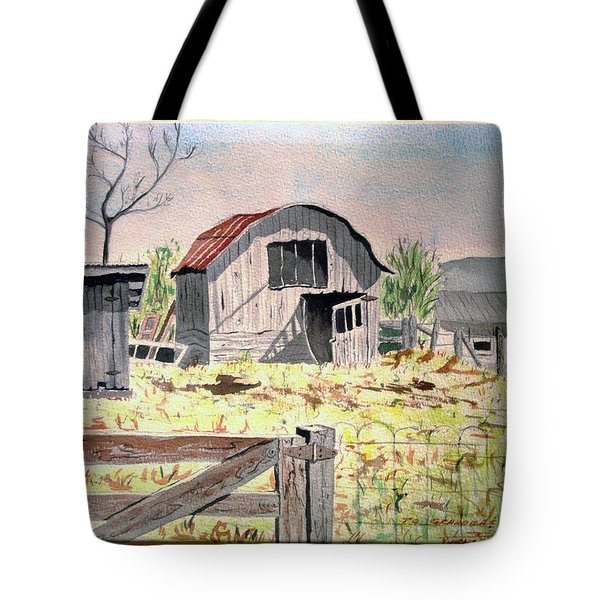 Barn On Fisk Rd Tote Bag