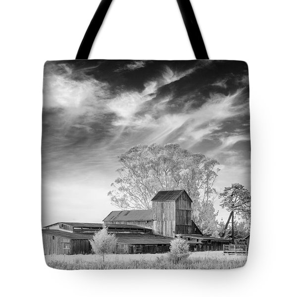 Barn On Marsh In Infrared Tote Bag by Greg Nyquist