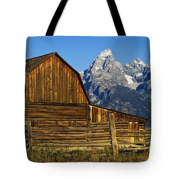 Barn On Mormon Row Tote Bag