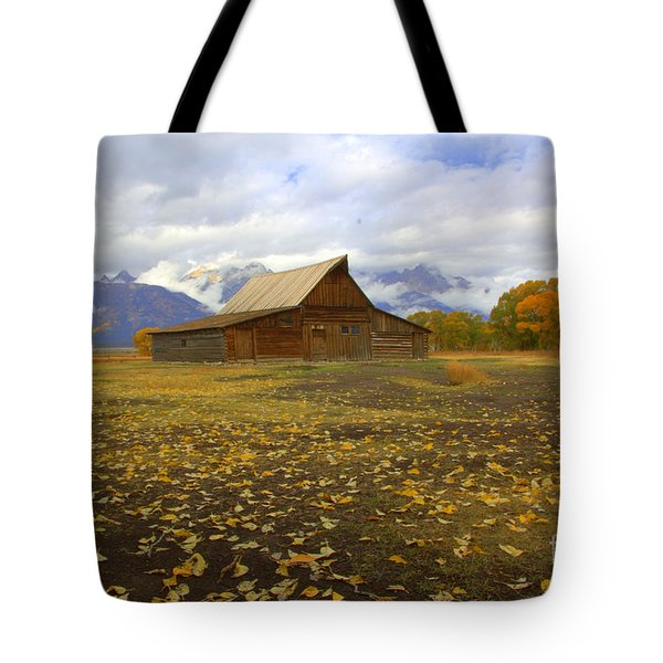 Barn On Mormon Row Utah Tote Bag