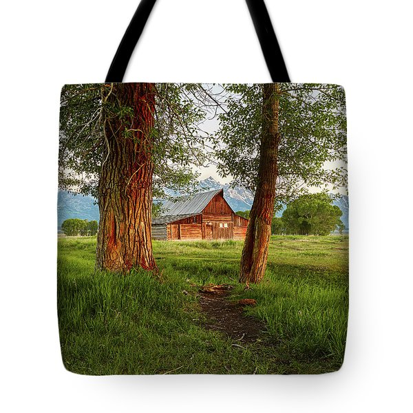 Barn On The Path Tote Bag