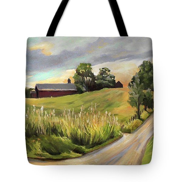 Barn On The Ridge In West Newbury Vermont Tote Bag