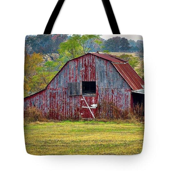 Barn On White Oak Road 2 Tote Bag