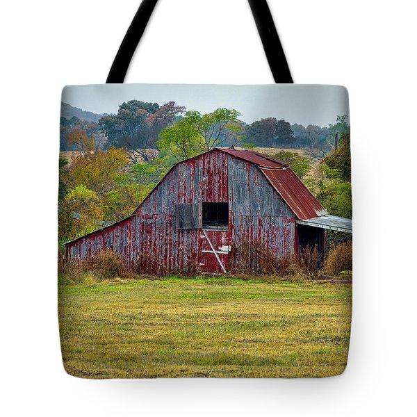 Barn On White Oak Road Tote Bag