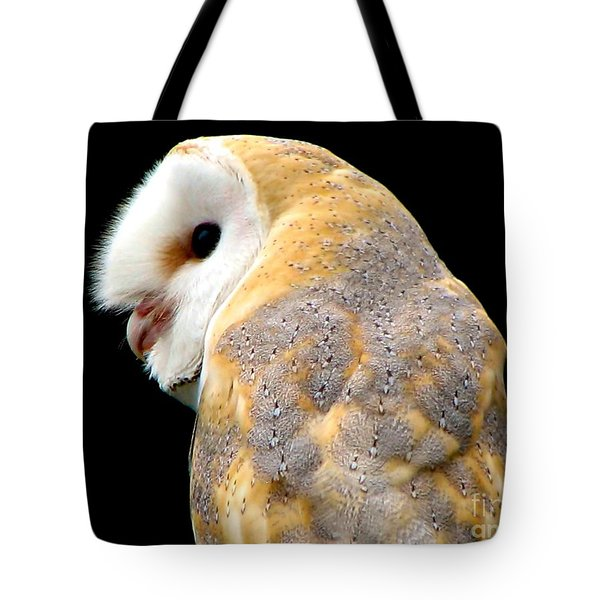 Barn Owl Tote Bag by Rose Santuci-Sofranko