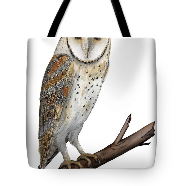 Barn Owl Screech Owl Tyto Alba - Effraie Des Clochers- Lechuza Comun- Tornuggla - Nationalpark Eifel Tote Bag