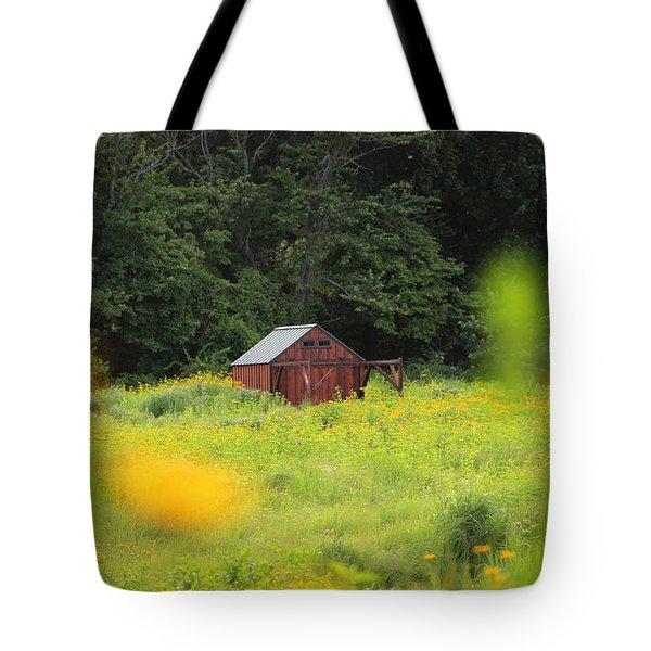 Barn Stony Brook New York Tote Bag