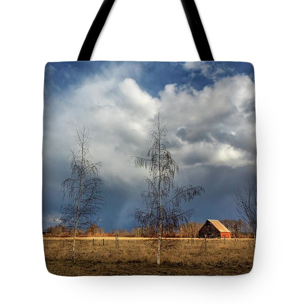 Tote Bag featuring the photograph Barn Storm by James Eddy