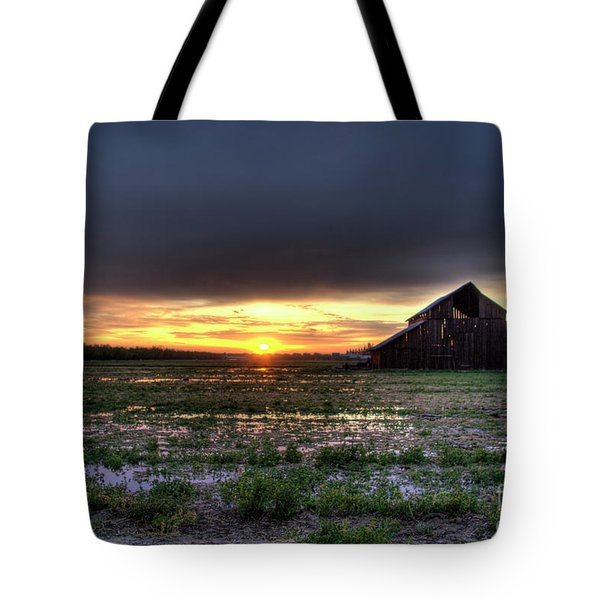 Barn Sunrise Tote Bag