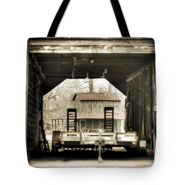 Barn Through A Barn Tote Bag