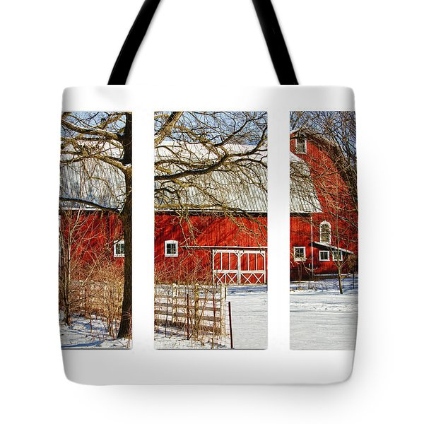 Barn Triptych Tote Bag by Pat Cook