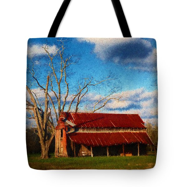 Red Roof Barn 2 Tote Bag