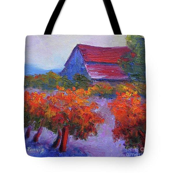 Barn Vineyard Autumn Tote Bag