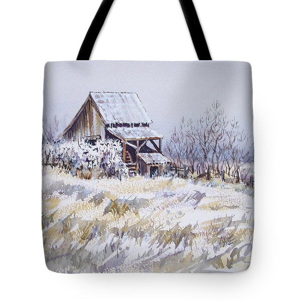 Barn Windmill Road Tote Bag